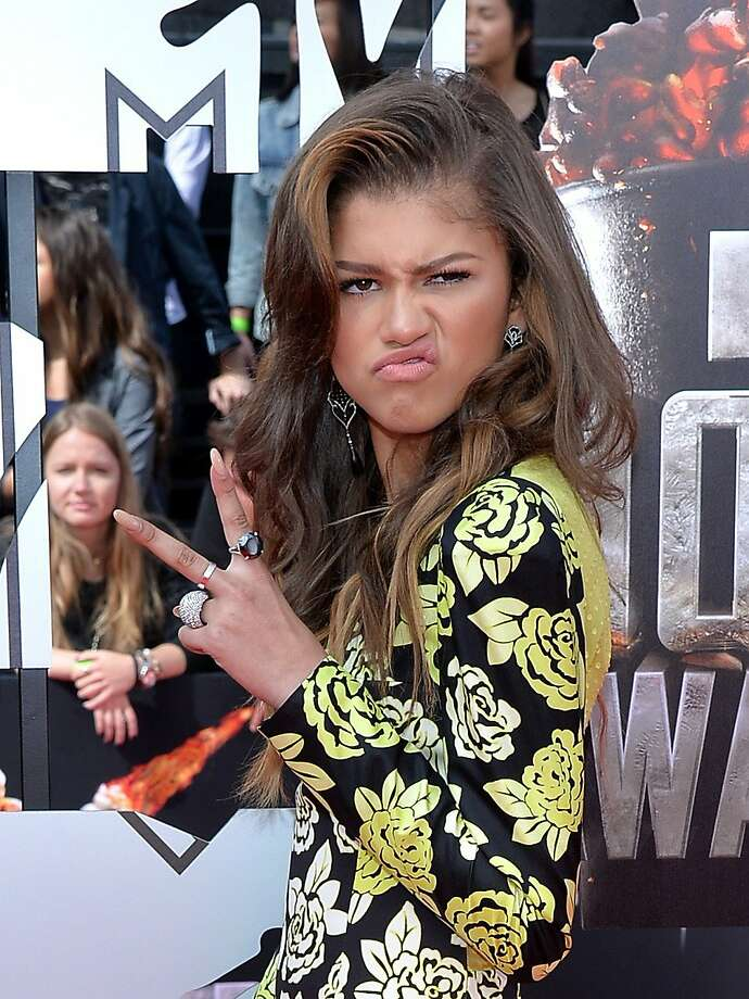 Actress Zendaya attends the 2014 MTV Movie Awards at Nokia Theatre L.A. Live on April 13, 2014 in Los Angeles, California.  (Photo by Michael Buckner/Getty Images) Photo: Michael Buckner, Getty Images