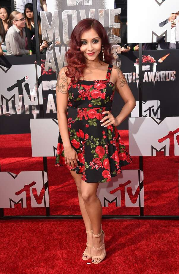 TV personality Nicole Snooki Polizzi attends the 2014 MTV Movie Awards at Nokia Theatre L.A. Live on April 13, 2014 in Los Angeles, California.  (Photo by Jason Merritt/Getty Images for MTV) Photo: Jason Merritt, Getty Images For MTV