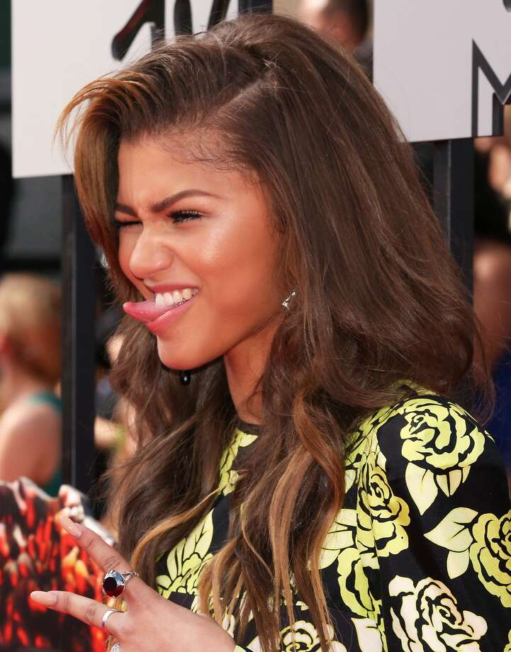 Actress Zendaya attends the 2014 MTV Movie Awards at Nokia Theatre L.A. Live on April 13, 2014 in Los Angeles, California.  (Photo by Rich Polk/Getty Images for MTV) Photo: Rich Polk, Getty Images For MTV