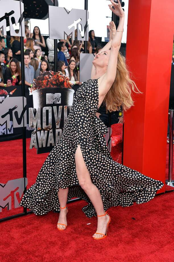 Actress Leslie Mann attends the 2014 MTV Movie Awards at Nokia Theatre L.A. Live on April 13, 2014 in Los Angeles, California.  (Photo by Michael Buckner/Getty Images) Photo: Michael Buckner, Getty Images