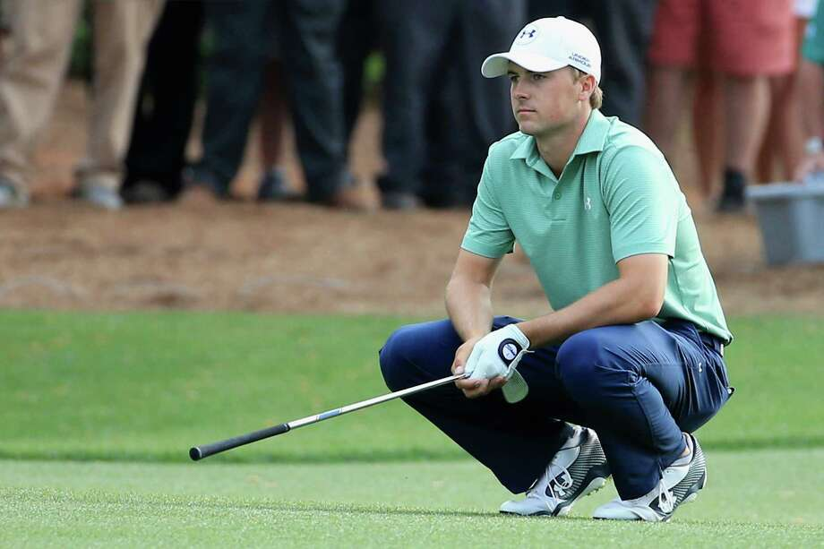 AUGUSTA, GA - APRIL 13:  Jordan Spieth of the United States reacts to a poor shot on the 14th hole during the final round of the 2014 Masters Tournament at Augusta National Golf Club on April 13, 2014 in Augusta, Georgia.  (Photo by David Cannon/Getty Images) ORG XMIT: 461742841 Photo: David Cannon / 2014 Getty Images