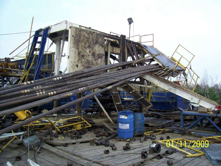 A worker was nearly killed and three others injured when this rig collapsed near Golden Meadow, La., in 2009. OSHA never investigated the accident.