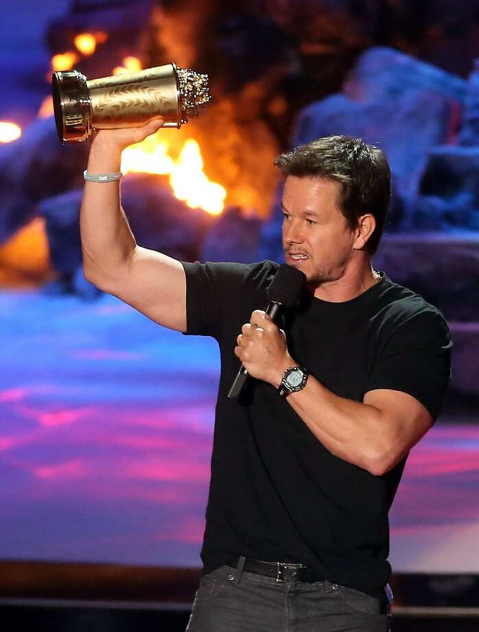 Actor Mark Wahlberg accepts the MTV Generation Award onstage at the 2014 MTV Movie Awards at Nokia Theatre L.A. Live on April 13, 2014 in Los Angeles, California. Photo: Frederick M. Brown, Getty Images
