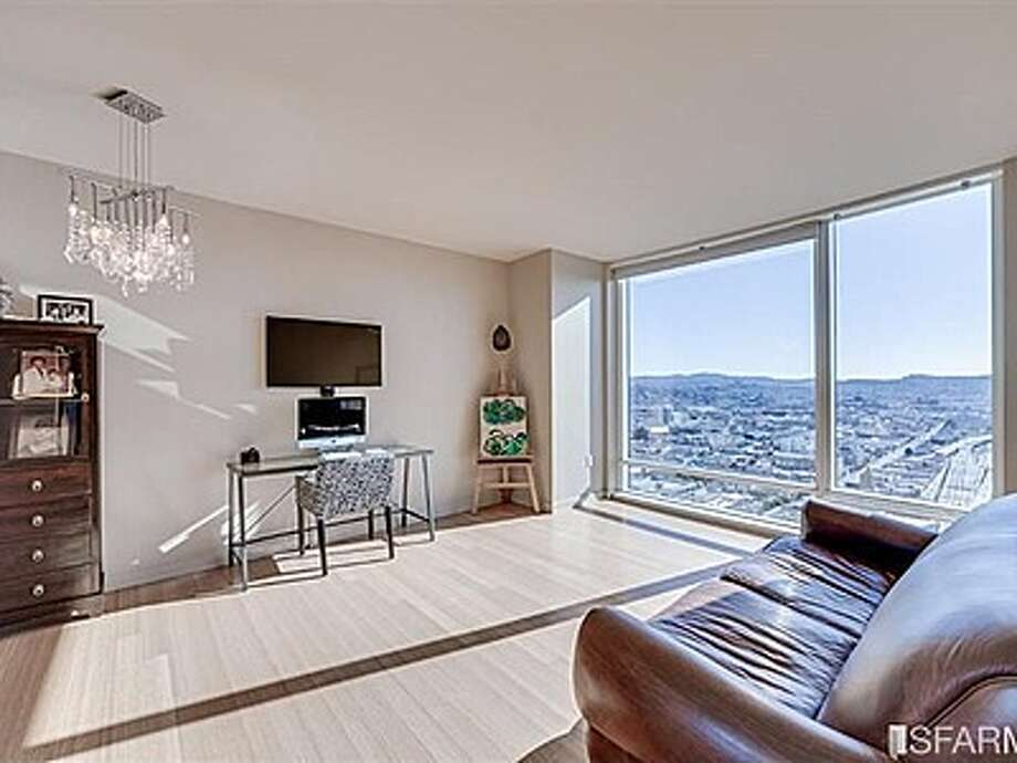 In addition to the captivating views, the condo also features bamboo hardwood floors. Photo: MLS