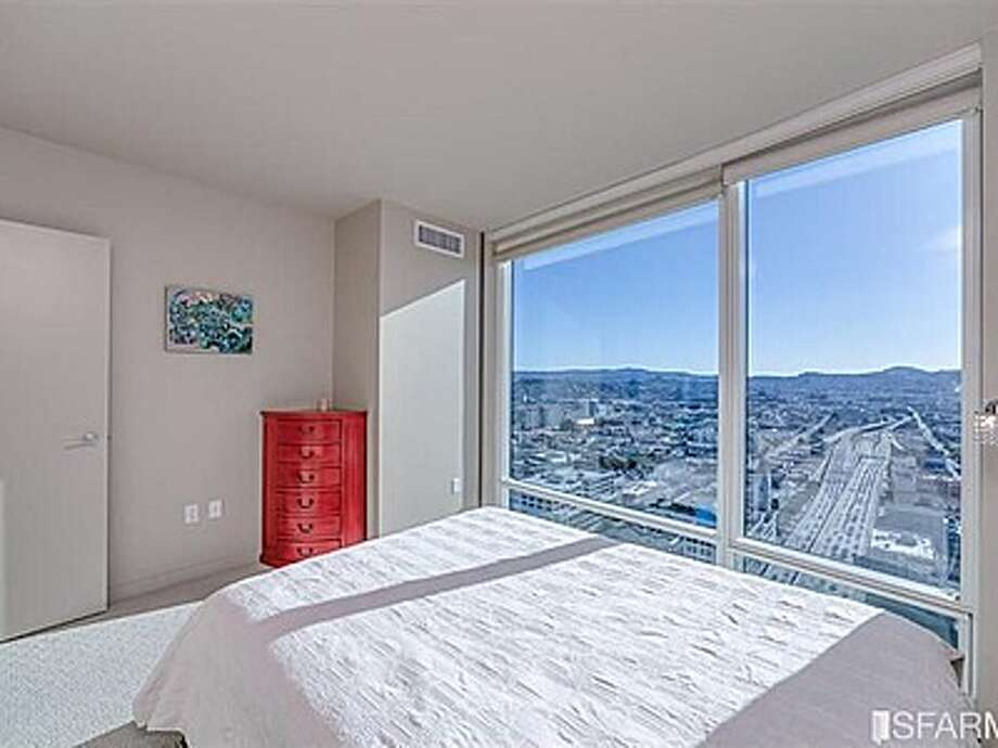 There's only one bedroom but it does have great views from its floor to ceiling windows. Photo: MLS