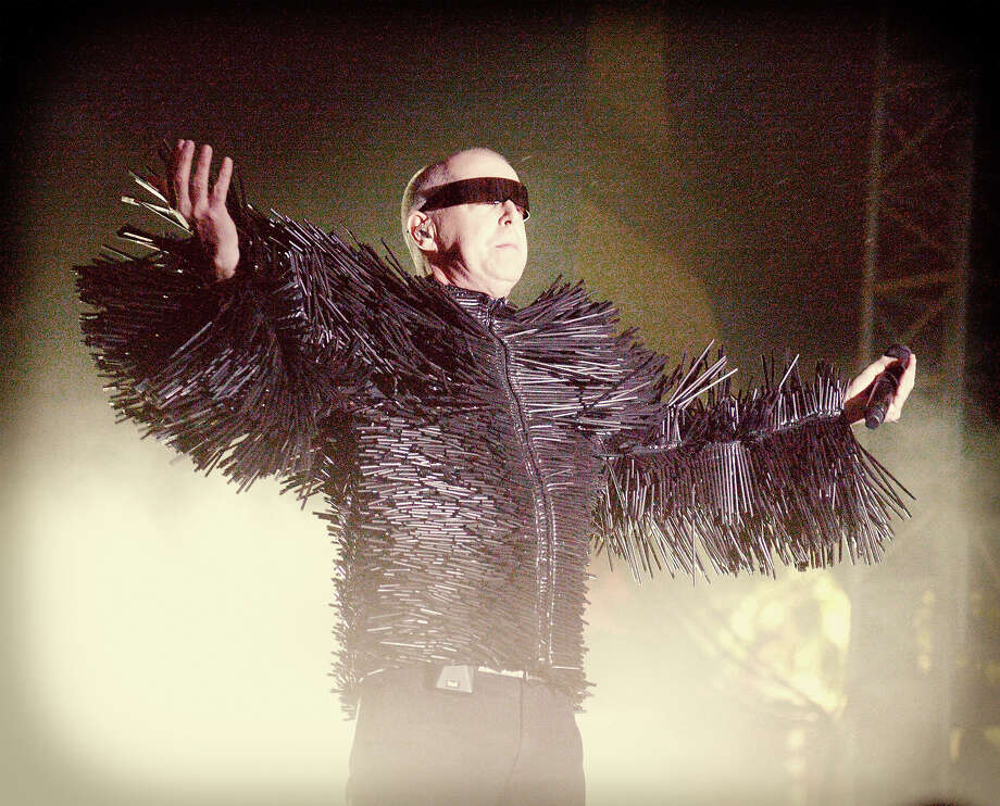 Musician Neil Tennant of Pet Shop Boys performs onstage during day 2 of the 2014 Coachella Valley Music & Arts Festival. Photo: Jason Kempin, Getty Images / 2014 Getty Images