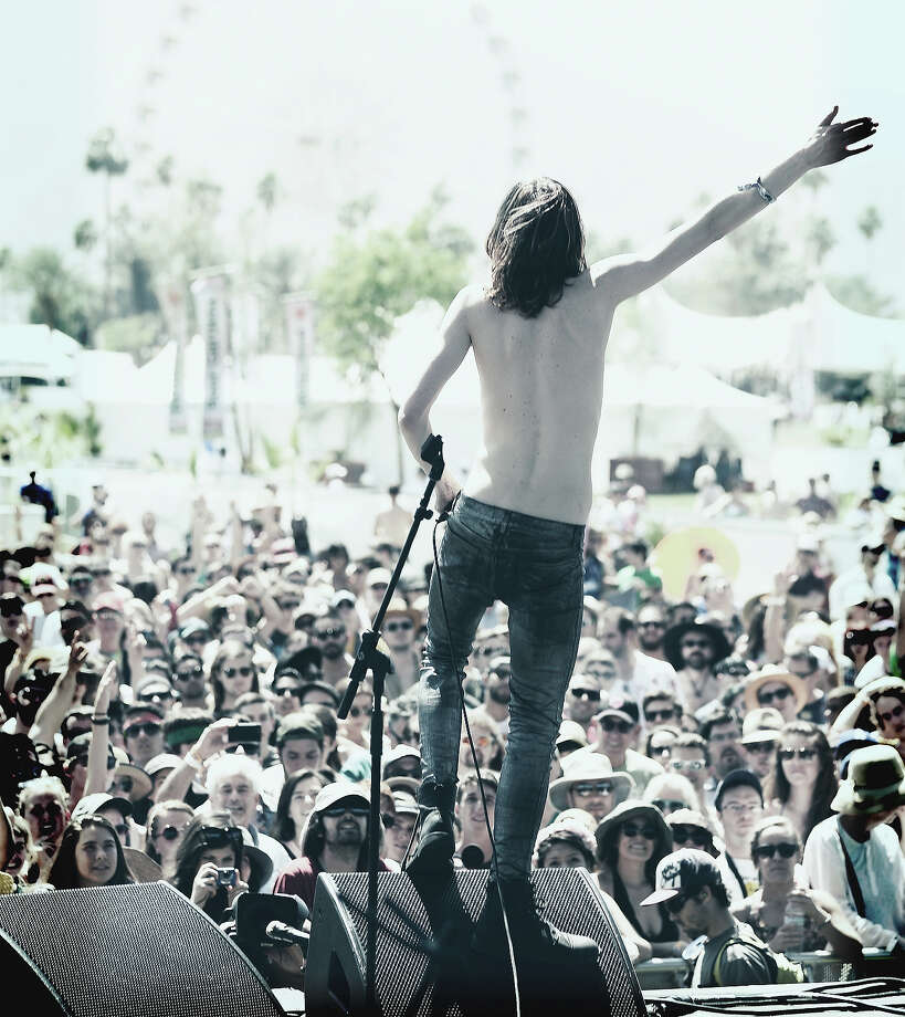 Musician Sam France of Foxygen performs onstage during day 2 of the 2014 Coachella Valley Music & Arts Festival. Photo: Frazer Harrison, Getty Images / 2014 Getty Images