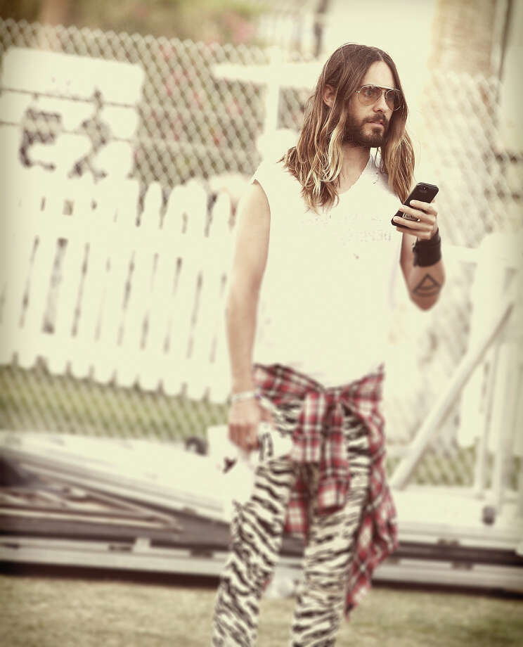 Actor Jared Leto attends day 2 of the 2014 Coachella Valley Music & Arts Festival. Photo: Imeh Akpanudosen, Getty Images / 2014 Getty Images