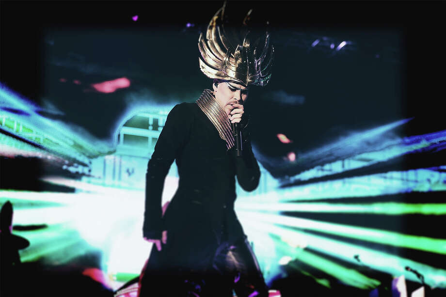 Singer Luke Steele of Empire of the Sun performs onstage during day 2 of the 2014 Coachella Valley Music & Arts Festival. Photo: Mark Davis, Getty Images / 2014 Getty Images