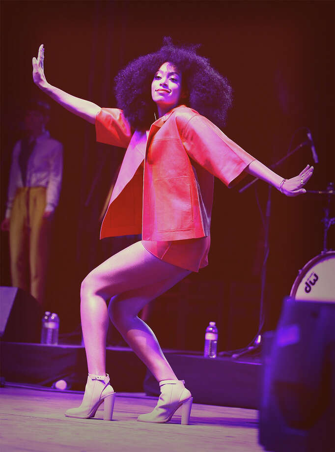 Singer Solange performs onstage during day 2 of the 2014 Coachella Valley Music & Arts Festival. Photo: Imeh Akpanudosen, Getty Images / 2014 Getty Images