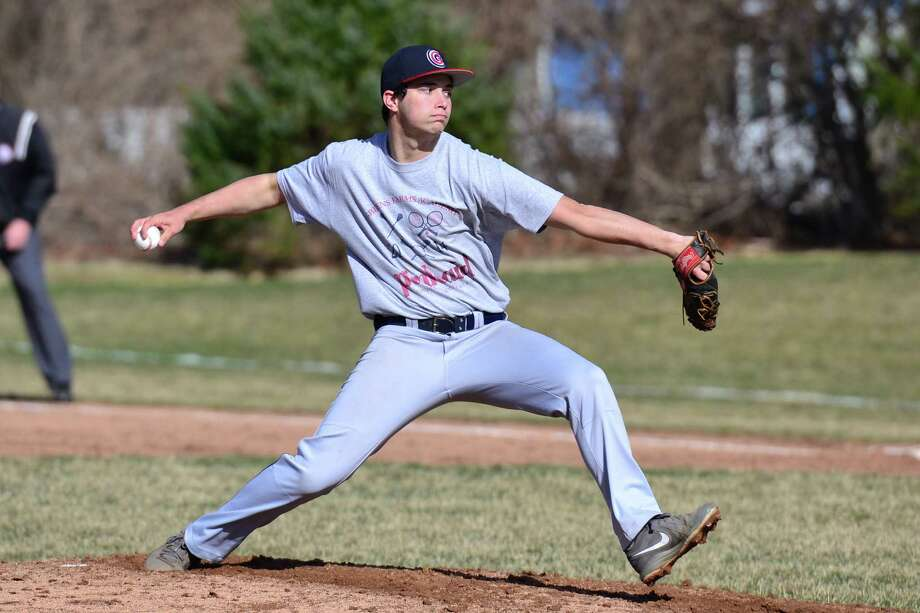 Jeremy Platt (Westport) threw six solid innings in the GFA baseball team's 5-2 victory against The Harvey School (N.Y.) April 9. Photo: Contributed Photo / Westport News Contributed