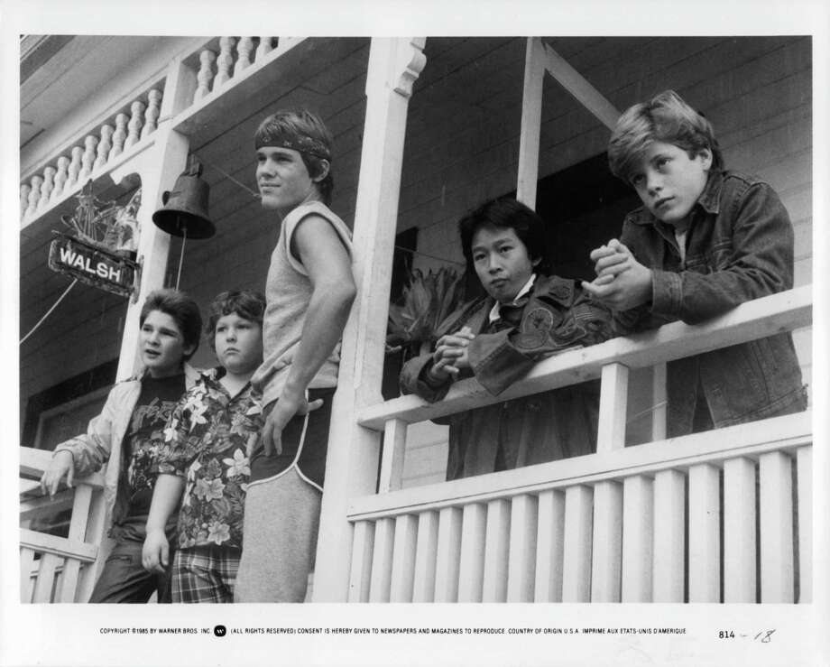 "Josh Brolin, in shorts, also starred in ""The Goonies,"" as big brother Brand.  Photo: Michael Ochs Archives, Getty Images / 2011 Getty Images"