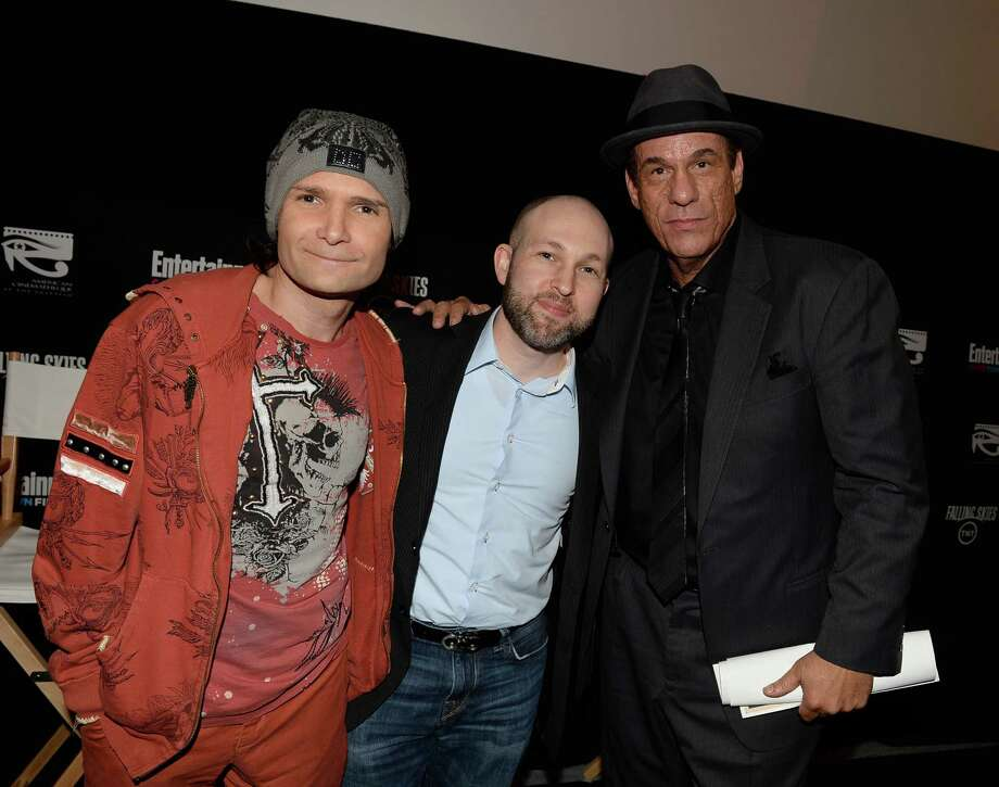 """The Goonies"" actors in 2013 at a screening of their hit '80s movie at the Entertainment Weekly CapeTown Film Festival in Hollywood, California. From left to right, it's Corey Feldman, Jeff Cohen and Robert Davi.  Photo: Michael Buckner, Getty Images / 2013 Getty Images"