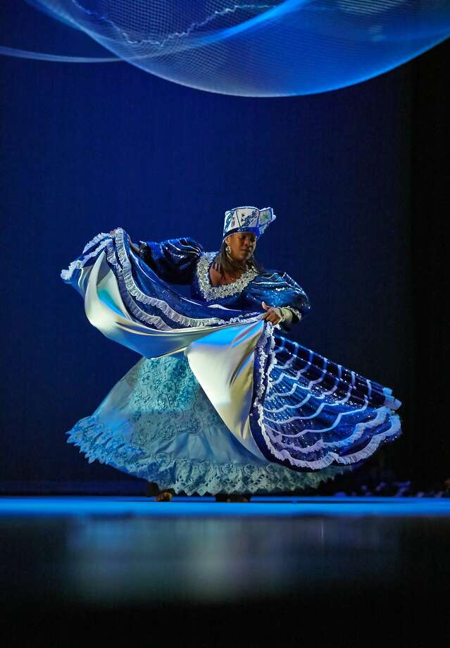 Susana Arenas dances Yemaya, a dance she choreographed that is named for a Yoruban deity. Photo: Patrick Hickey