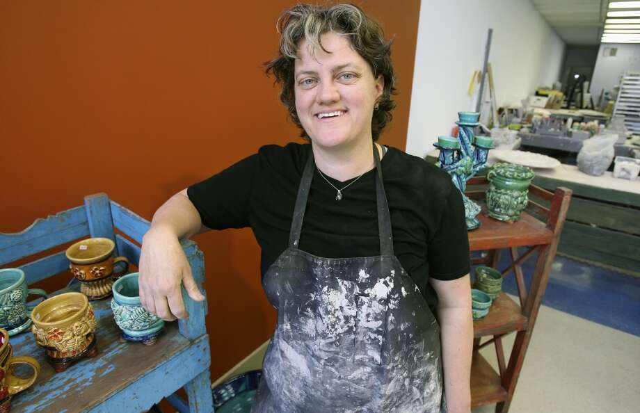 Ceramicist Diana Kersey shows her new studio and shop at 112 Broadway on Feb. 29, 2012. Photo: Tom Reel, Express-News