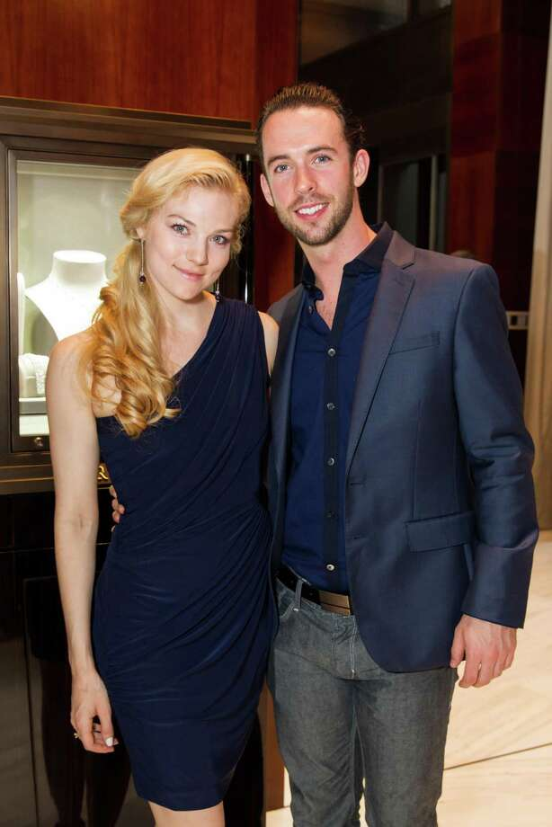Smuin Ballet dancers Erica Felsch and Ben Needham-Wood at Graff Diamonds' cocktail reception honoring Smuin Ballet's 20th Anniversary benefactors and sponsors, held Wednesday, April 9, 2014 at Graff Diamonds in San Francisco. Photo: Laura Morton For Drew Altizer, Drew Altizer Photography / Drew Altizer Photography