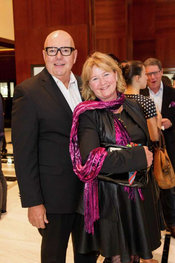 Graff Diamonds Director Robert Atkinson with Felicia Tudal at Graff Diamonds' cocktail reception honoring Smuin Ballet's 20th Anniversary benefactors and sponsors, held Wednesday, April 9, 2014 at Graff Diamonds in San Francisco. Photo: Laura Morton For Drew Altizer, Drew Altizer Photography / Drew Altizer Photography