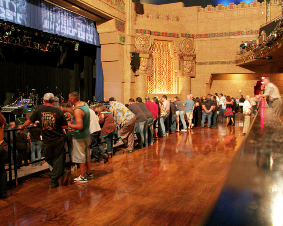 Los Lobos fans turn out for a concert at the Aztec Theatre on Sunday, April 13, 2014. Photo: 0320412472, Deanne Cuellar