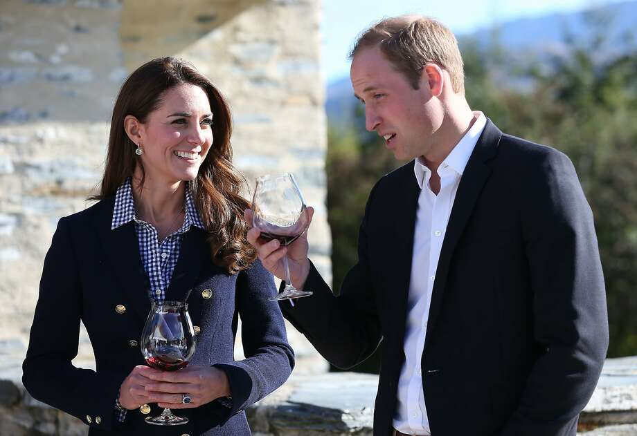 It's a precocious little Cab ... Prince William and Kate sample a vintage at the Amisfield Winery in Queenstown, New Zealand. Photo: Fiona Goodall, AFP/Getty Images