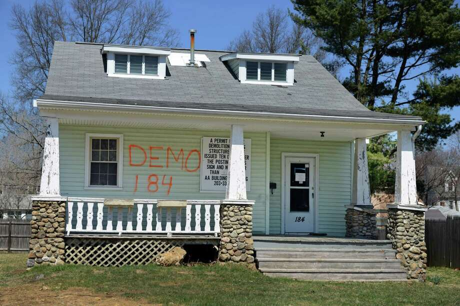 A demolition permit was issued for the Alvin Street house where aviation pioneer Gustave Whitehead once lived in Fairfield, Conn. Photo: Autumn Driscoll / Connecticut Post