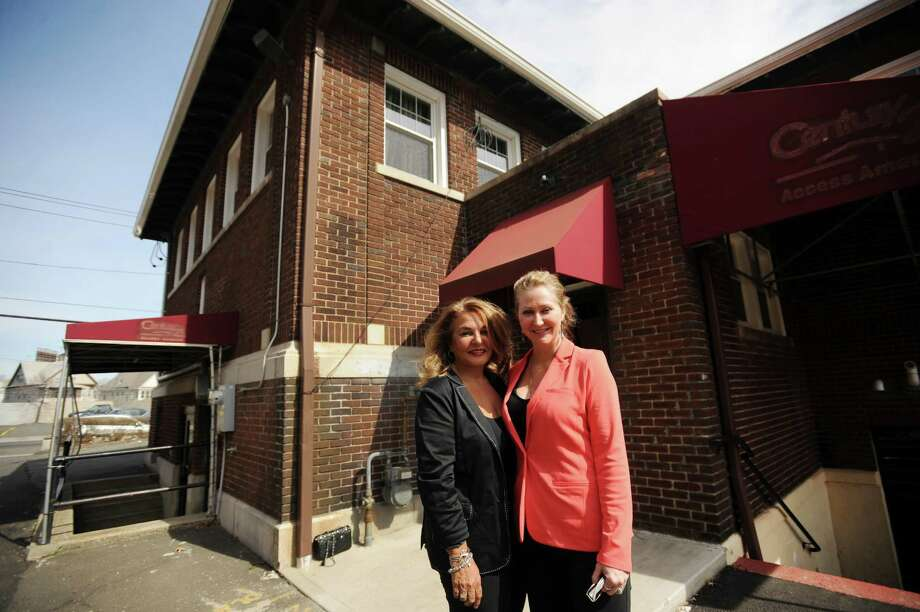 D & B Wellness, LLC owners Angela D'Amico, left, and Karen Barski, both of Trumbull, at 2181 Main Street in Bridgeport, Conn. where they hope to operate a medical marijuana dispensary. Their application with the state was approved. Photo: Brian A. Pounds / Connecticut Post