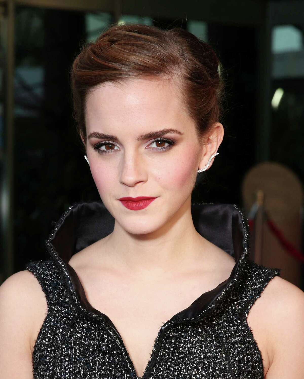 """Emma Watson attends the LA premiere of """"The Bling Ring"""" at the Director's Guild of America on Tuesday, June 4, 2013 in Los Angeles. (Photo by Todd Williamson/Invision/AP)"""
