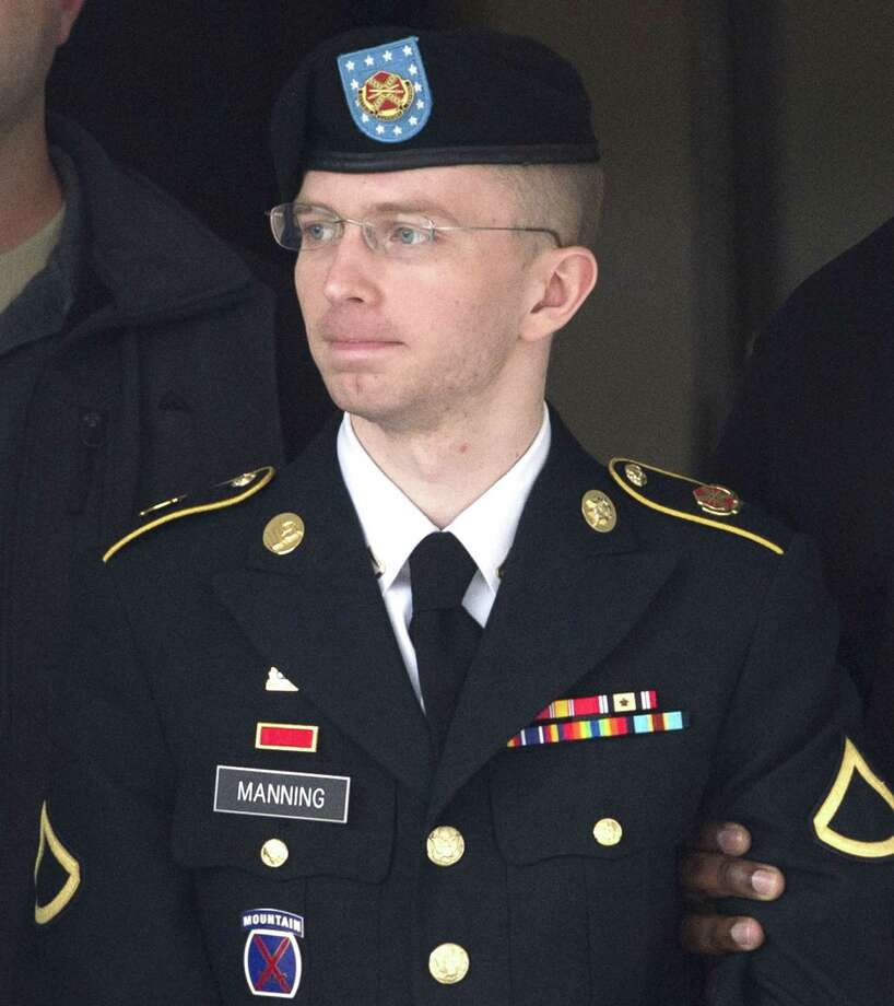In a widely publicized gender switch, US Army Pvt. 1st Class Bradley Manning, who was convicted of giving classified U.S. government information to the website WikiLeaks, became Chelsea Manning. Manning is seen here in 2014, prior to the transformation. Photo: SAUL LOEB / AFP/Getty Images / AFP
