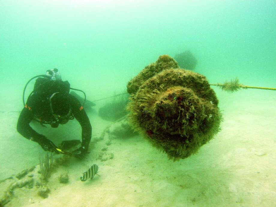 The shipwreck of the USS Narcissus sits in 15 feet of water near Tampa. Photo: The Florida Aquarium Photo
