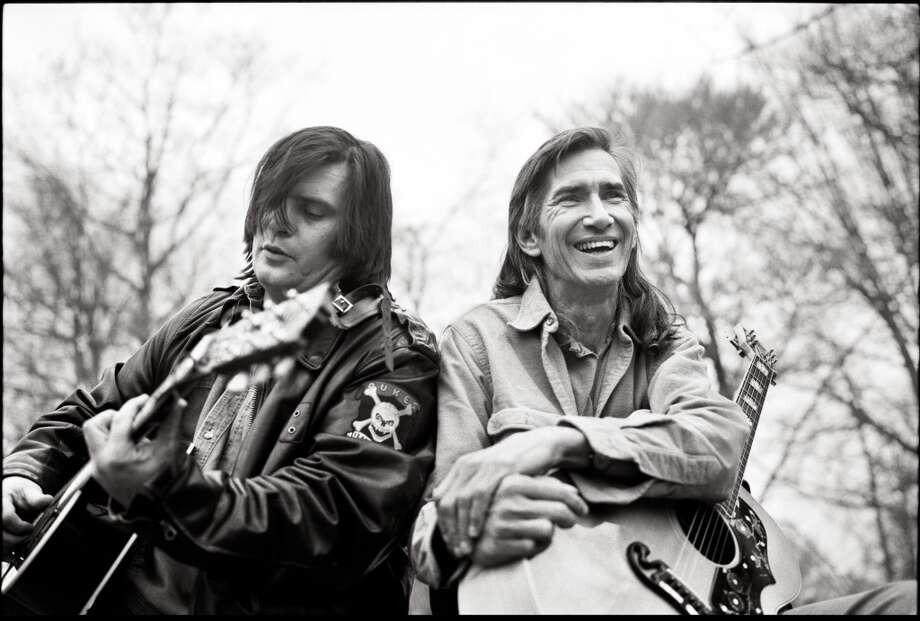 Steve Earle (left) and his mentor Townes Van Zandt were both Kerrville veterans. (Courtesy photo) Photo: COURTESY PHOTO
