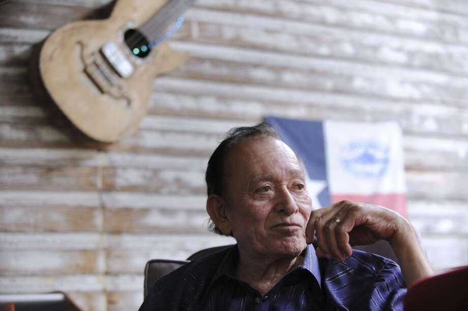 Conjunto legend Flaco Jimenez played the third folk festival in 1974. (File photo) Photo: Billy Calzada, San Antonio Express-News