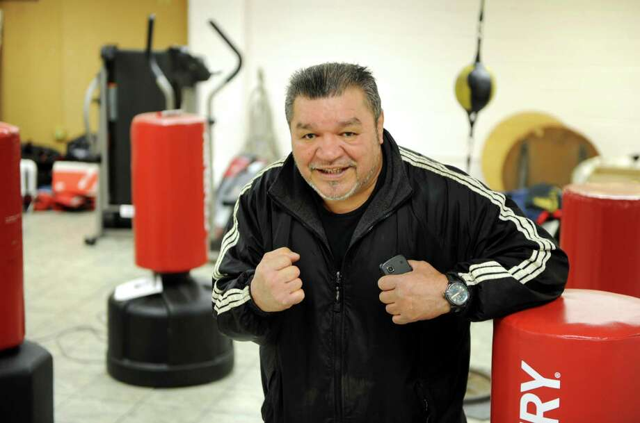 Montalvo's boxing gym has relocated to Hope Street in Stamford, Conn. after being forced out of their South End location. Orlando Montalvo poses at the gym on Friday April 4, 2014. Photo: Dru Nadler / Stamford Advocate Freelance