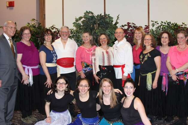 Sunday, April 6 was the 40th Annual Albany Israeli Dance Festival, which featured dancers from all over the Capital Region.  Pictured is Arazim, the adult dance troupe, with Rep. Paul Tonko. (Gail Sacco)