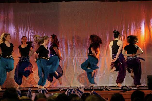 Ts'chok performs at the 40th Annual Albany Israeli Dance festival, which featured dancers from across the Capital Region on Sunday April, 6.  (Steven Gally)