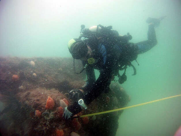 The shipwreck of the USS Narcissus sits in 15 feet of water near Tampa. Photo: South Eastern Archaeological Services, Inc.