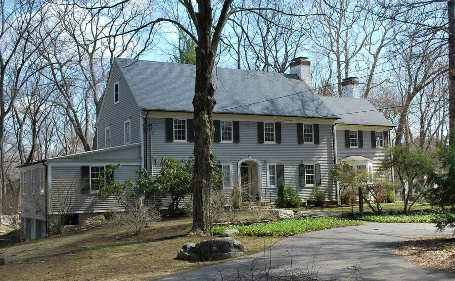 The Colonial Revival house at 7 Crooked Mile Road is on the market for $1,549,732. Photo: Contributed Photo / Westport News