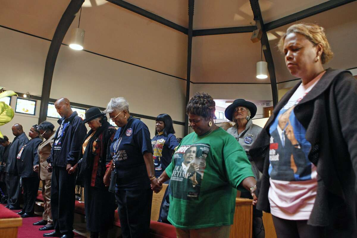 Members of the Allen Temple Baptist Church in Oakland are seen on Nov. 5, 2008.