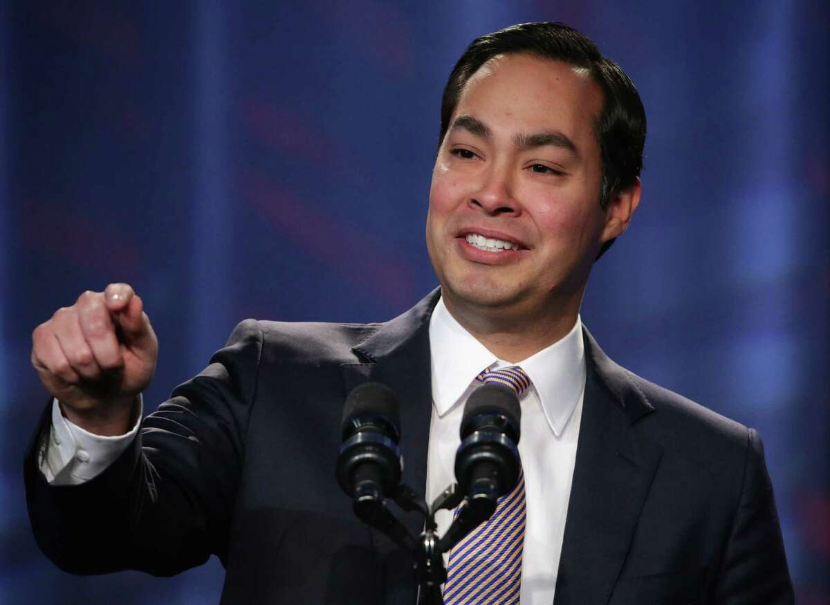 """Mayor of San Antonio, Texas, Julian Castro speaks during the opening plenary session of Families USA's Health Action 2014 conference January 23, 2014 in Washington, DC. The conference brought together health care advocates to focus on """"topics from Medicaid expansion and efforts to promote high-quality care to strategies for improving health care access for minorities."""" (Photo by Alex Wong/Getty Images)"""
