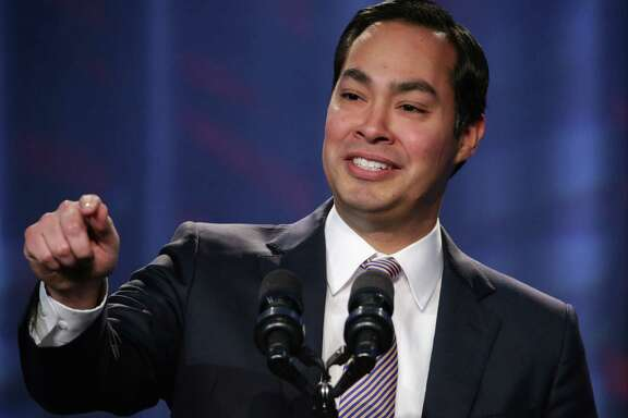 "Mayor of San Antonio, Texas, Julian Castro speaks during the opening plenary session of Families USA's Health Action 2014 conference January 23, 2014 in Washington, DC. The conference brought together health care advocates to focus on ""topics from Medicaid expansion and efforts to promote high-quality care to strategies for improving health care access for minorities.""  (Photo by Alex Wong/Getty Images)"