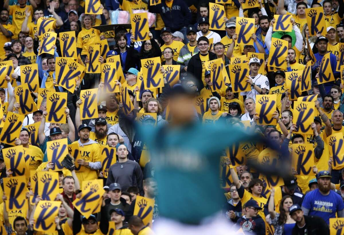 Friday, April 11 Athletics 4, at Mariners 6 Pitching among a sea of yellow shirts as Safeco Field held