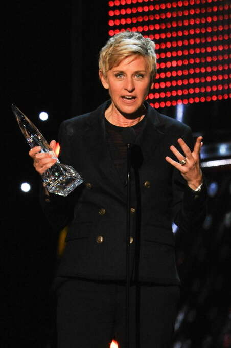 TV personality Ellen DeGeneres accepts the Favorite Daytime TV Host award for 'The Ellen DeGeneres Show' onstage at The 40th Annual People's Choice Awards show at Nokia Theatre LA Live on January 8, 2014 in Los Angeles, California.  (Photo by Allen Berezovsky/WireImage) Photo: Allen Berezovsky, WireImage / 2014 Allen Berezovsky