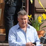 Alec Baldwin sighting on March 11, 2014 in New York City. (Photo by Josiah Kamau/BuzzFoto/FilmMagic)