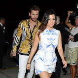 Kourtney Kardashian and Scott Disick are sighted arriving back to their hotel in South Beach on March 12, 2014 in Miami Beach, Florida. (Photo by Dave Lee/GC Images)
