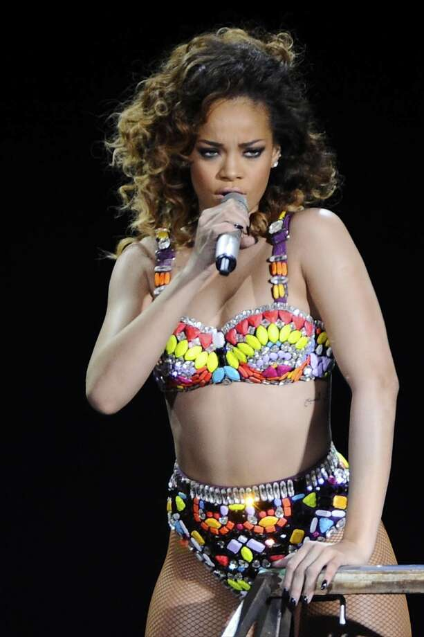 Rihanna, in performance. Photo: Sean Thorton, WENN.com