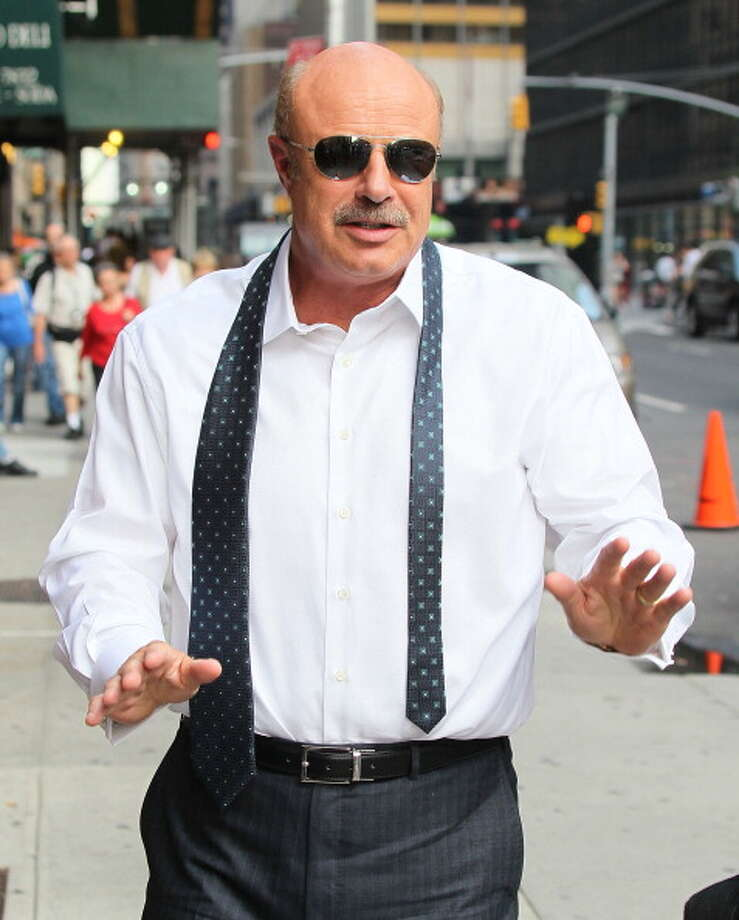 "Dr. Phil arrives to ""Late Show with David Letterman"" at Ed Sullivan Theater on September 12, 2013 in New York City.  (Photo by Jeffrey Ufberg/WireImage) Photo: Jeffrey Ufberg, WireImage / 2013 Jeffrey Ufberg"
