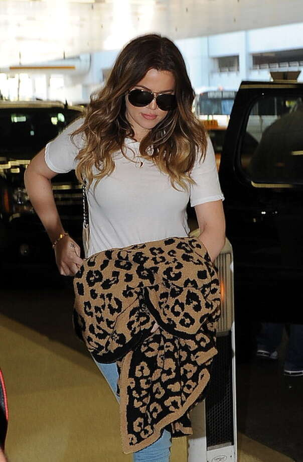 Khloe Kardashian is seen at Miami International Airport on March 13, 2014 in Miami, Florida.  (Photo by Radcliffe/Bauer-Griffin/GC Images) Photo: Radcliffe/Bauer-Griffin, GC Images / 2014 Bauer-Griffin