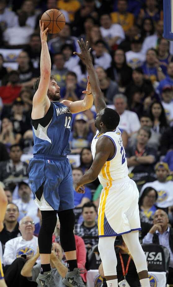 The Warriors have pursued trade talks, including Minnesota's Kevin Love, that might bring a pick. Photo: Carlos Avila Gonzalez, The Chronicle