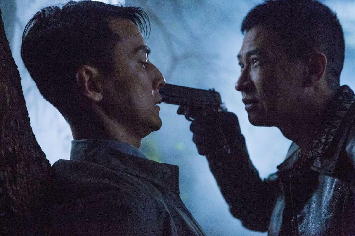 Daniel Wu (left) and Nick Cheung in Dante Lam's