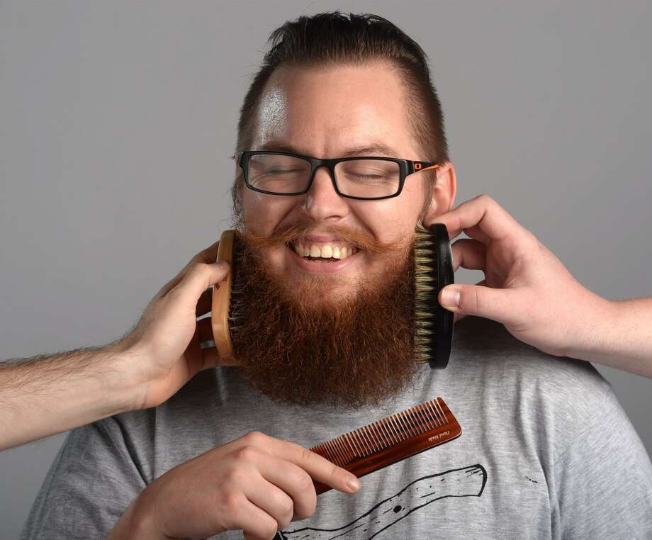 Ryan Olson's beard is groomed with Texas Beard Company products. Photo taken Tuesday, April 01, 2014 Guiseppe Barranco/@spotnewsshooter