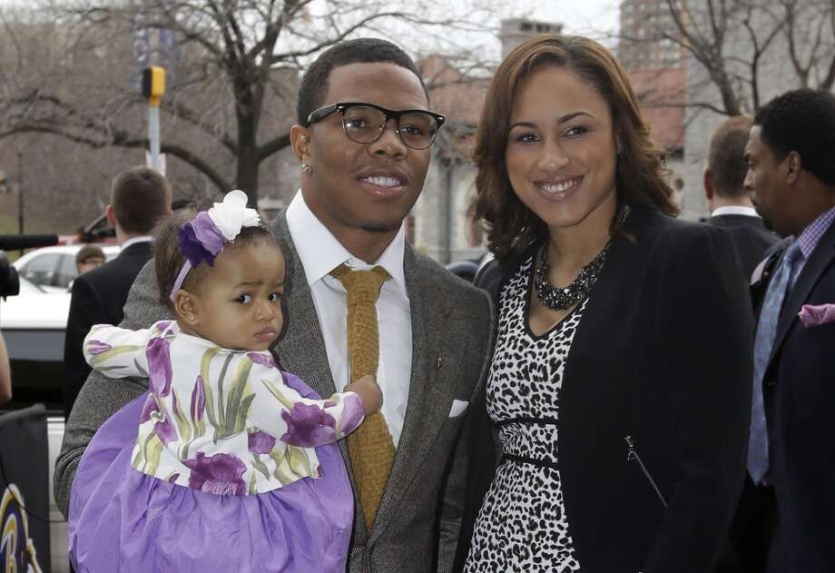 Baltimore Ravens running back Ray Rice was arrested on February 15 in Atlantic City, New Jersey after an alleged physical altercation with his fiancee, Janay Palmer, in a hotel elevator. Rice was caught on video knocking Palmer unconscious and dragging her out of the elevator. Both Rice and Palmer were charged with simple assault and released soon after. Photo: Patrick Semansky, Associated Press