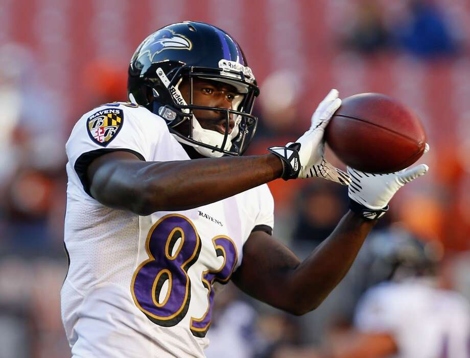 Baltimore Ravens wide receiver Deonte Thompson was arrested on February 21 on suspicion of possessing marijuana and drug paraphernalia in Gainesville, Florida. Thompson's charges were dismissed on April 13. Photo: Matt Sullivan, Getty Images